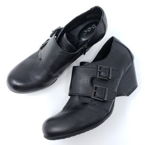 Born Loafer Pumps Booties Double Monk Strap Zip